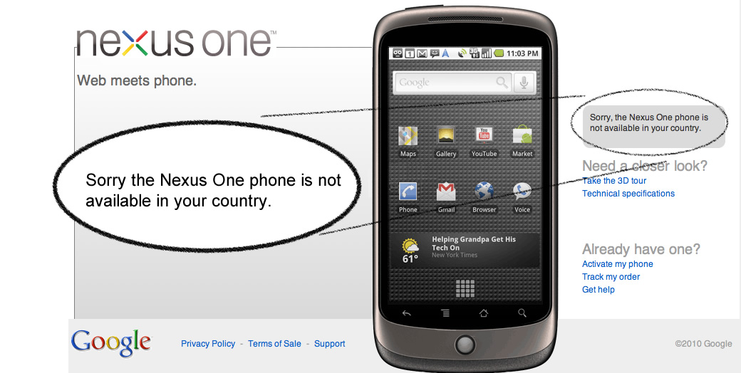 The Nexus phone is not available in your country. Suck on it.